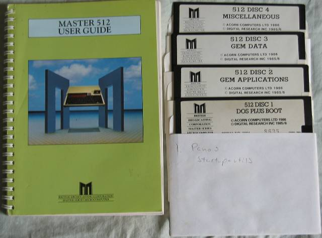 Acorn Master 512 Guide and DRDOS discs
