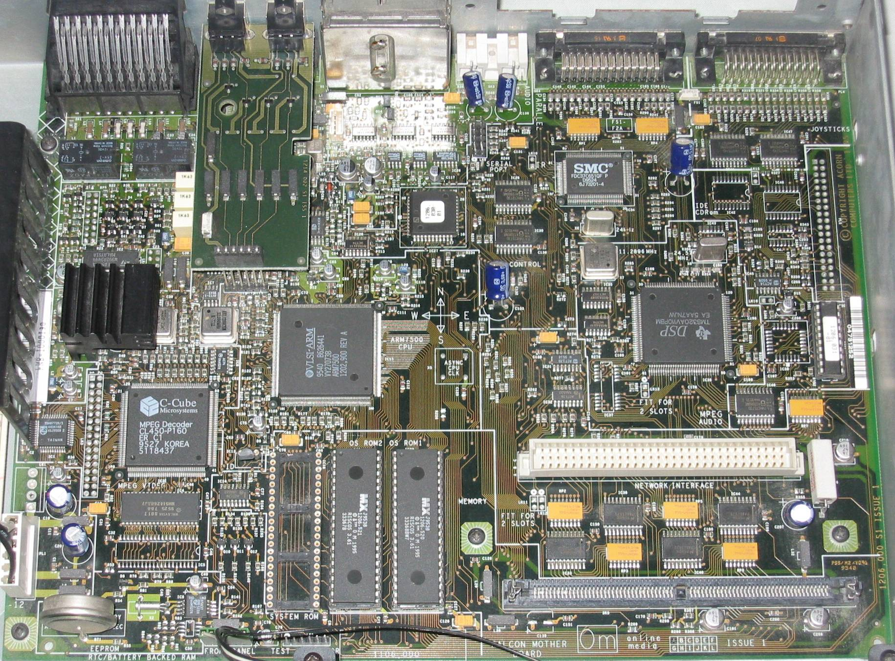 Chris\'s Acorns: Acorn Online Media STB20 Circuit board (hi-res)
