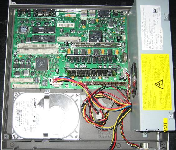 Risc PC 700 with first case slive removed