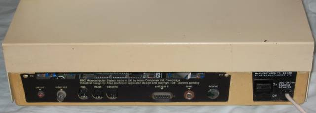 Solidisk cased BBC model B issue 3 back